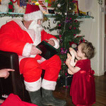 Santa came to nursery with presents for all the children - Christmas 2011