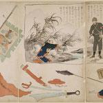 川上音二郎浅草座にて日清戦争の新劇を演ずる図
