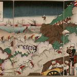 28牙山大激戦日本大勝利之図