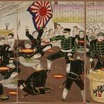 58日本兵大勝利祝宴を開之図
