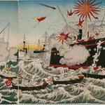 13朝鮮豊島辺日清艦戦争日本軍大勝利の図