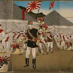 53日本帝国陸軍牙山全勝凱旋之図