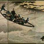 107我軍占領栄城湾上陸之図