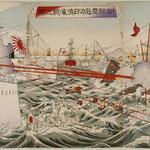 12朝鮮豊島沖日清海戦之図
