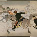 108第二師団長佐久間中尉栄城府攻撃而占領之図