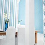 das Esszimmer in Blau - wirkt entspannend und beruhigend