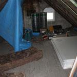 unsanierter Zustand des Dachgeschosses