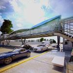 Puente peatonal Perisur, CDMX 2015