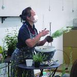 今回使う植物について特性や育てる上でのコツも学びました。