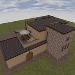 Lavori di costruzione di una casa colonica