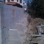 Ripristino di un versante franoso con gabbioni ed opere in c.a. (in corso)