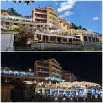 Lavori di restyling e risanamento conservativo di una struttura turistico ricettiva sul porto di Agropoli (giorno e notte)