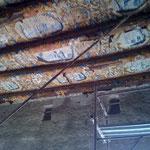 Risanamento conservativo e recupero statico di un immobile in Napoli alla via Foria (durante)