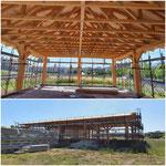 Costruzione di una scuola con struttura in legno lamellare in Montecorvino Pugliano (in corso)