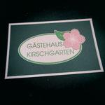 Gästehaus Kirschgarten - Visitenkarte