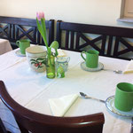 Gästehaus Kirschgarten - Frühstücksraum - Frühling