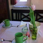 Gästehaus Kirschgarten - Frühstücksraum - Frühling2