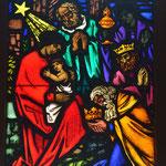 Fensterbild, Kiche Praden, Geburt Jesu, Foto: Martin Domann