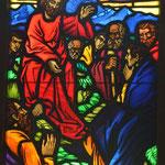 Fensterbild, Kiche Praden, Bergpredigt, Foto: Martin Domann