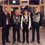 mit dabei der Schützenkönig der Klosterschützen Albert Hufnagl (ganz rechts)