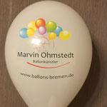 Ballonkünstler Marvinio // 28 cm Ballons // 7-farbig und einseitig