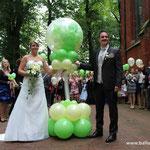 Ballonglück in grün