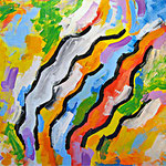 """""""righe colorate"""" acrilico su tela cm30x40"""