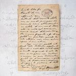 """""""contatto""""vecchio inchiostro e contemporanei segni di matita su cartacm22x22,5 (Lo scritto originale di un soldato ritornato dal fronte della prima Guerra Mondiale)"""