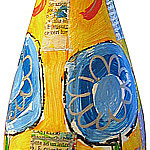 """""""Bottiglia di spumante"""" acrilici e foglia oro"""