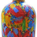"""""""il prato di Barbara e Roberto"""" acrilici su bottiglia cm18x7,5"""