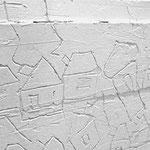 """graffi su cassapanca in gesso"" cm73X115"