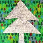 """""""l'Albero delle Parole"""" acrilici su cartone con inserti di matita cm52x59,5"""