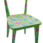 """""""sedie per l'Estate"""" (a) acrilici con tratto a matita e carboncino su legno"""