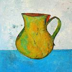 """""""La brocca della Val d'Ambiez"""""""" acrilici, tratto in carboncino e vernice all'acqua lucida su foglio di carton legno cm59.5x52"""
