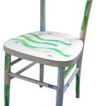 """""""sedie MOi"""" (a) acrilici con tratto a matita e carboncino su legno"""
