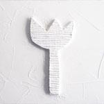 """""""fiori di Michela"""" gesso acrilico e cartone su tela cm24x24 (2)"""