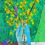 """""""fiori gialli """" acrilico su cartone cm45x34 (esercizio)"""