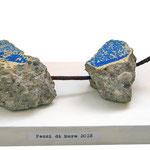 """""""pezzi di Mare"""" pezzi di cemento con tracce di colore trovati in riva al mare di Riccione cm25x11,5"""
