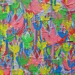 """""""prove per giardino"""" acrilico su carta e cartone cm15x20"""