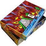"""""""la scatola di Antonio"""" acrilico su cartone cm15x9x4"""