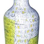 """""""Bottiglia Transizionale"""" acrilici su vetro"""