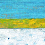 """""""spiagge"""" acrilici su pezzo di legno per pavimento cm43x21"""