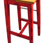 """""""sgabelli per pizzeria al taglio"""" acrilici su legno rifiniti con vernice all'acqua"""