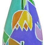 """""""fiori di zucchero"""" (a) acrilici e tratti in rilievo su bottiglia in vetro per spumante"""