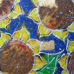 """""""girasoli per tavolino"""" acrilico su legno cm120x60"""