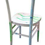 """""""sedie MOi"""" (b) acrilici con tratto a matita e carboncino su legno"""