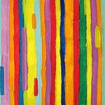 """""""righe a colori"""" acrilico su tela cm40x50"""