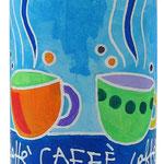 """""""barattolo caffè"""" acrilici su striscia di plastica adesiva cm13x10"""