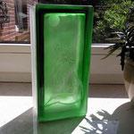 Sandstrahlung auf Glasbaustein