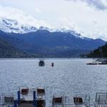Vue magnifique du bord du lac